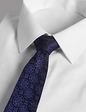 Pure Silk Foulard Tie Made with Swarovski® Elements