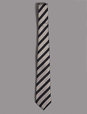 Pure Silk Striped Tie