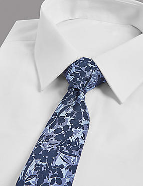 Pure Silk Floral Printed Tie