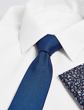 Pure Silk Floral Tie & Pocket Square Set