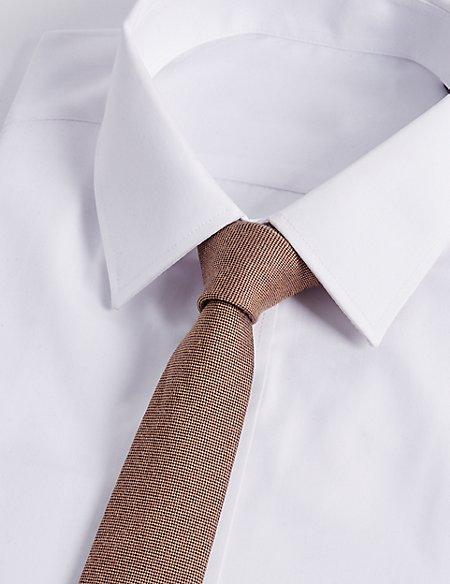 Silk Blend Textured Tie