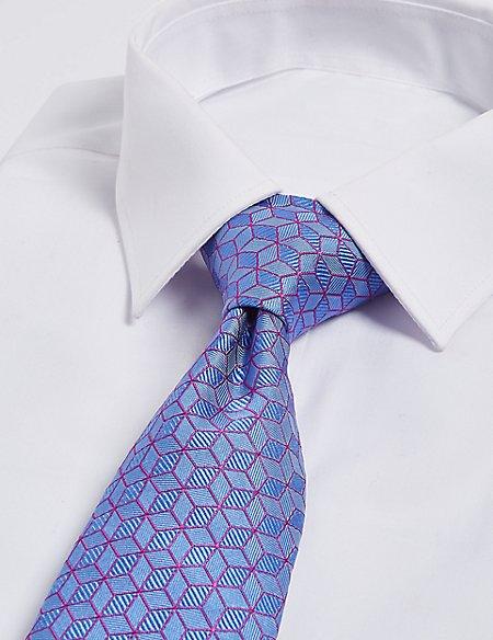 Pure Silk Cube Geometric Tie