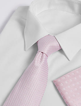 Pure Silk Mix & Match Geometric Hank & Tie Set