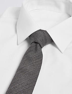 Wool Rich Textured Tie