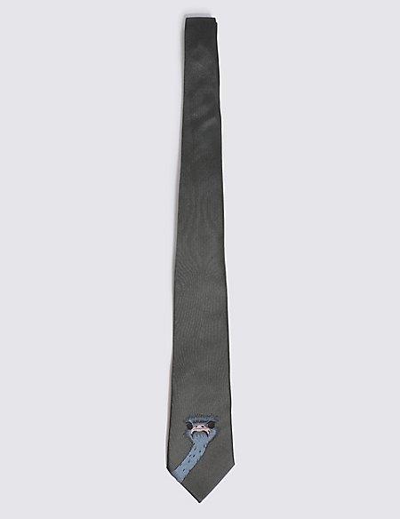 Pure Silk Ostrich Tie