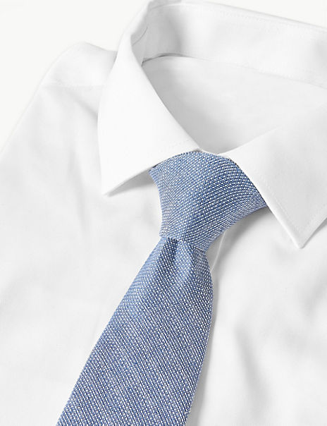 Linen & Silk Blend Striped Tie