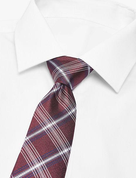 Silk Slim Heritage Check Tie