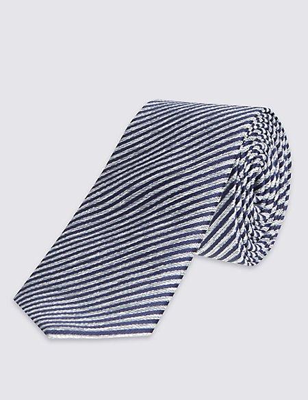 Striped Tie & Pocket Square Set