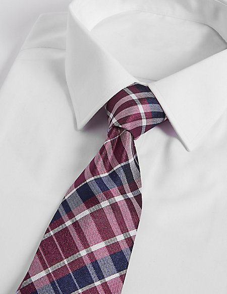 Pure Silk Checked Tie