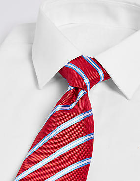 Pure Silk Striped Tie