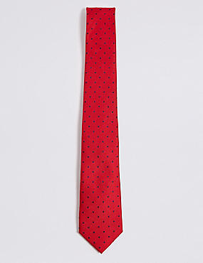 Pure Silk Spotted Tie