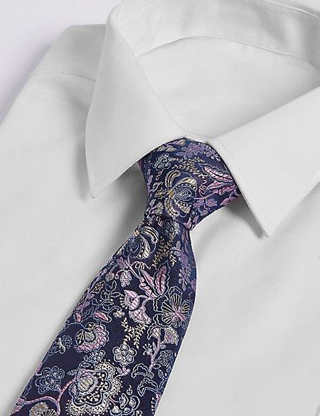 Pure Silk Oriental Floral Tie