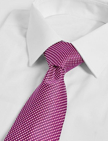Longer Length Silk Rich Textured Tie