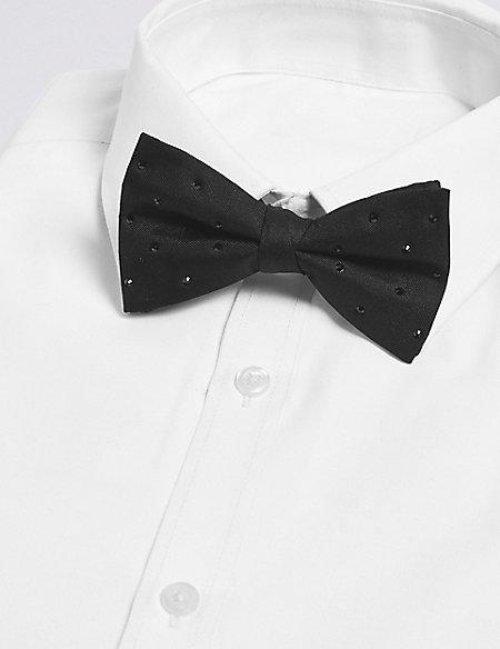 Pure Silk Bow Tie Made with Swarovski® Elements