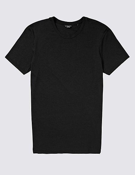 2in Longer Supima® Cotton Crew Neck Vest