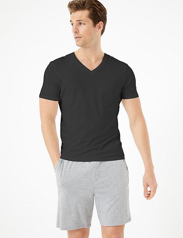 Premium Cotton V-Neck T-Shirt Vest