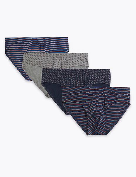 4 Pack Cotton Geometric Cool & Fresh™ Slips