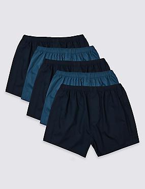5 Pack Cotton Blend Boxers