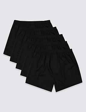 5 Pack Cotton Blend Boxers