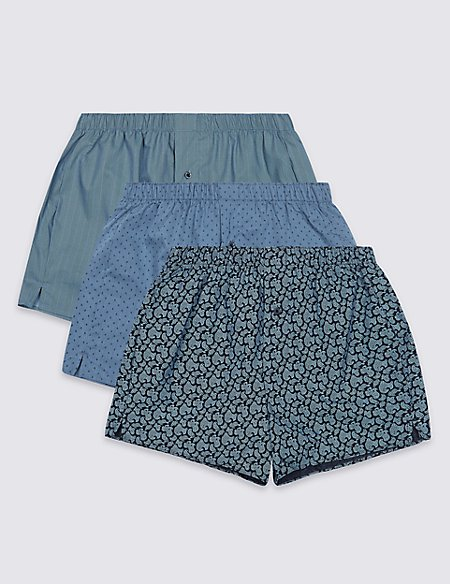 3 Pack Pure Cotton Boxers