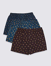 3 Pack Pure Cotton Animal Printed Boxers