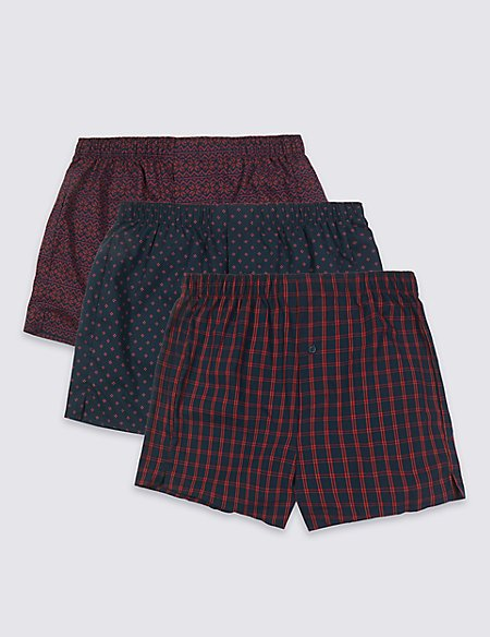 3 Pack Pure Cotton Christmas Boxers