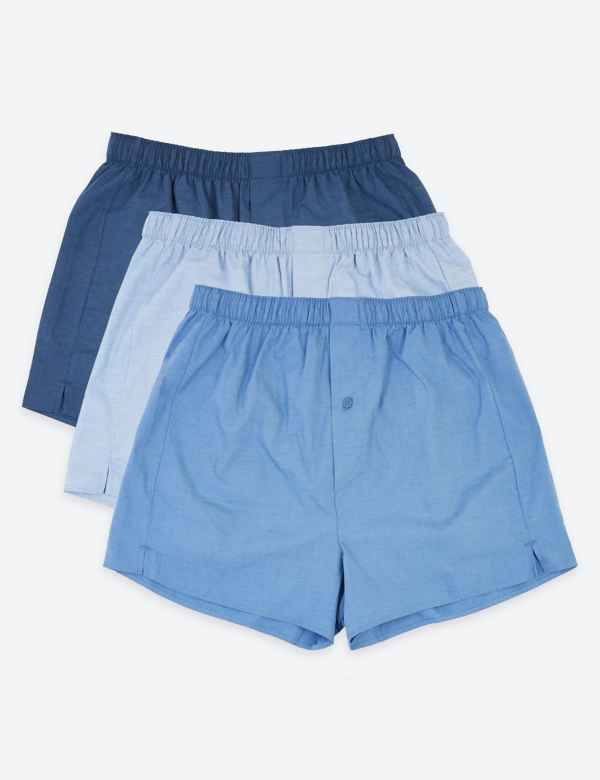 604b09161f00 Mens Boxers | Assorted Cotton Woven Boxers For Men | M&S