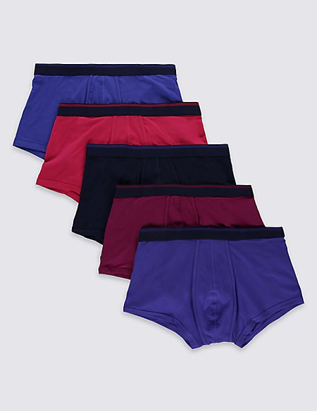 5 Pack Cotton Rich Hipster Underwear