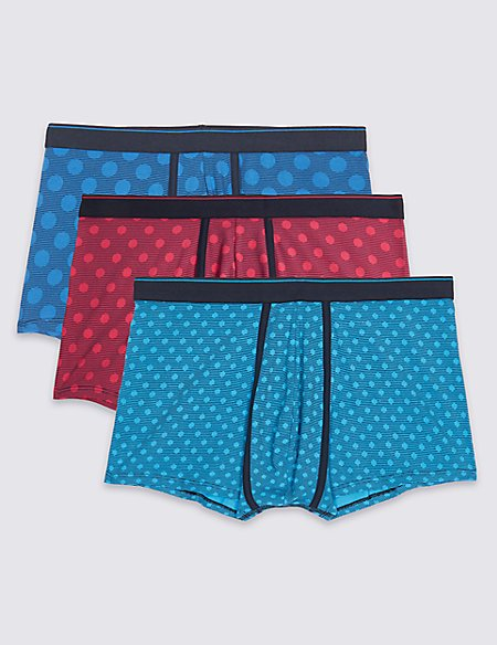 3 Pack Cotton Rich Spotted Hipsters