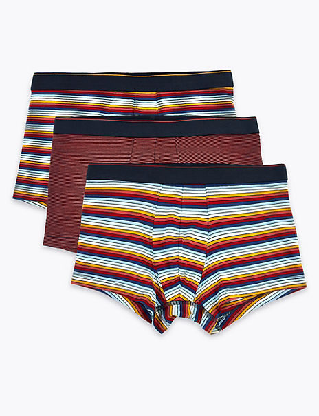 3 Pack Cool & Fresh™ Striped Hipsters