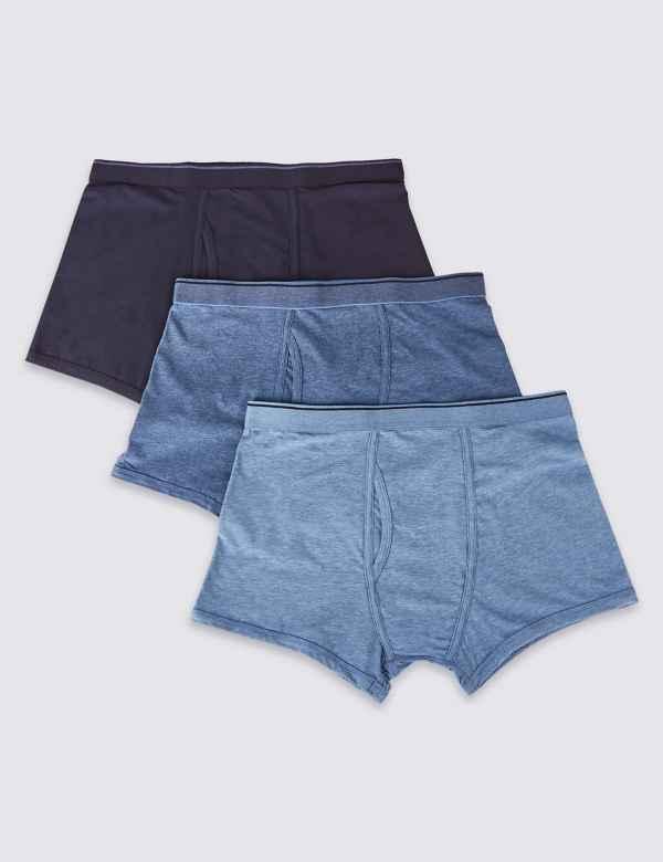 dabd7272529 3 Pack Cool   Fresh™ Stretch Cotton Trunks