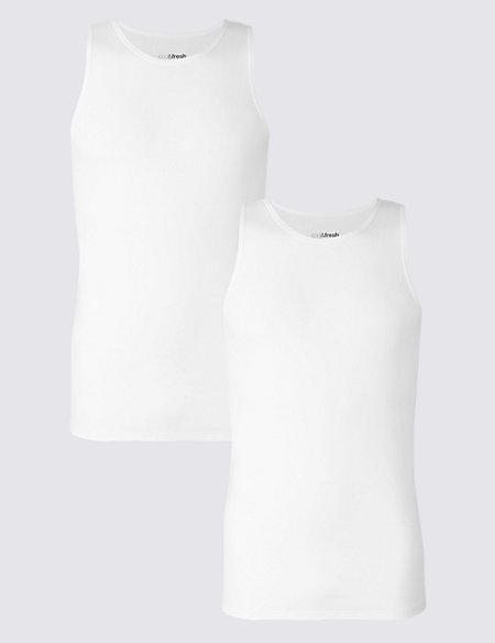 2 Pack Pure Cotton Cool & Fresh™ Vests