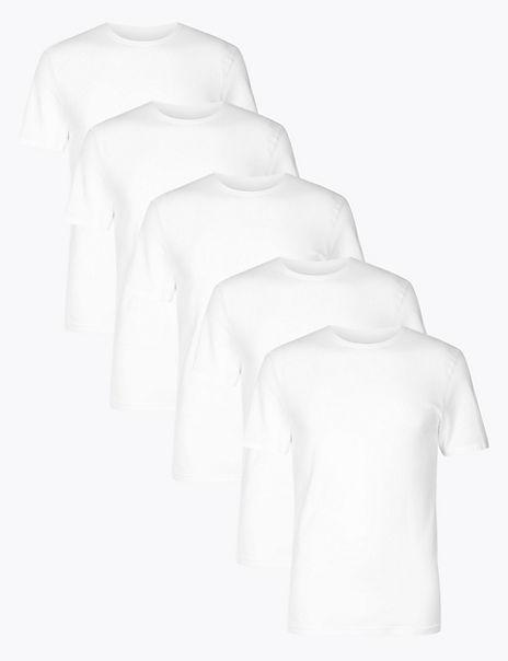 5 Pack Cotton Rich Cool & Fresh™ Vests