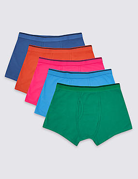 5 Pack Cotton Rich Stretch Assorted Trunks