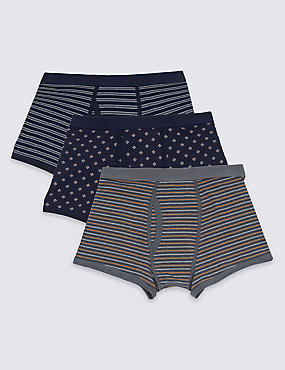 3 Pack Cool & Fresh™ Cotton Rich Trunks