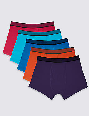 5 Pack Cotton Rich Cool & Fresh™ Trunks