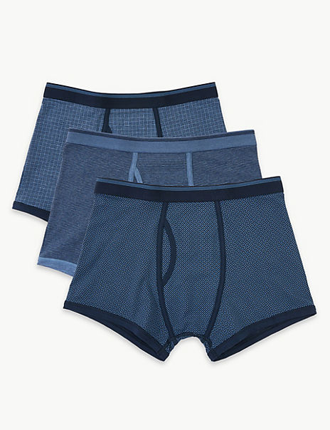 3 Pack Cotton Cool & Fresh™ Geometric Trunks