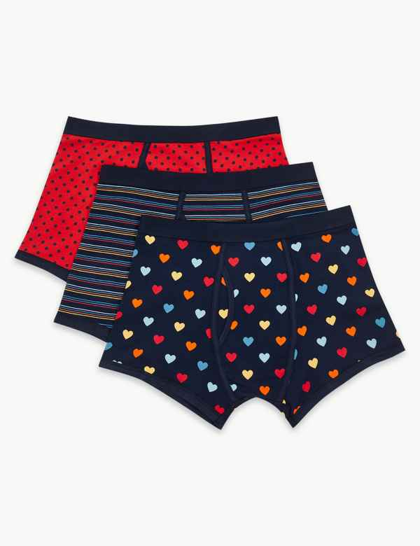 3 Pack Cotton Rich Cool & Fresh™ Trunks