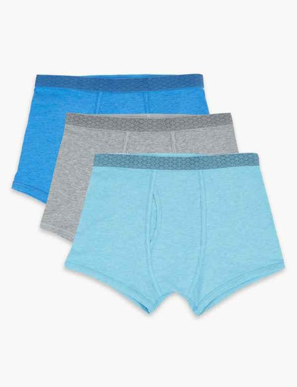 3d3b9e60c5 3 Pack Cotton Rich Cool   Fresh™ Trunks