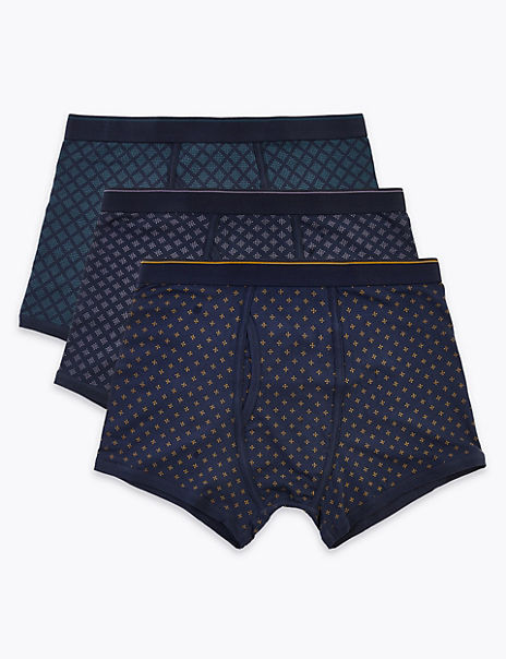 3 Pack Cool & Fresh™ Cotton Trunks