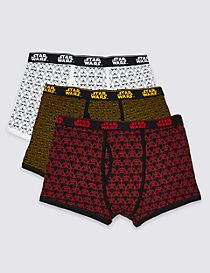 3 Pack Star Wars™ Cotton Rich Trunks