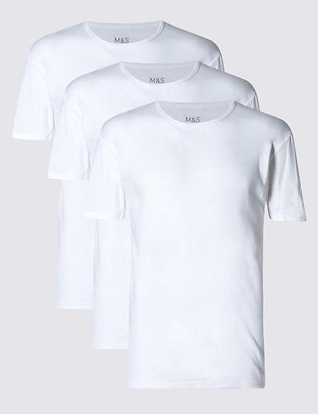 3 Pack Pure Cotton Crew Neck Vests