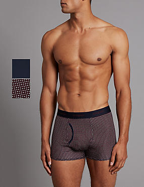2 Pack Geometric Print Trunks