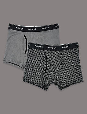 2 Pack Modal Blend Printed Trunks