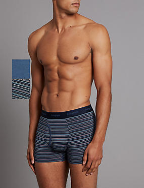 2 Pack Modal Blend Striped Trunks