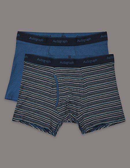 2 Pack Modal Blend Striped Trunks