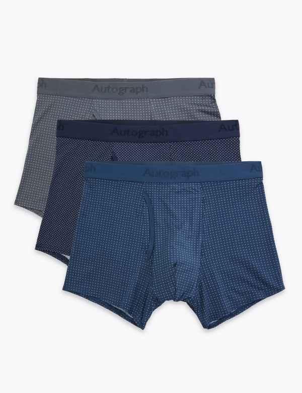 M/&S Men Blue 10 Pcs Loose Cool /& Fresh Cotton Slips Briefs Size S Authentic