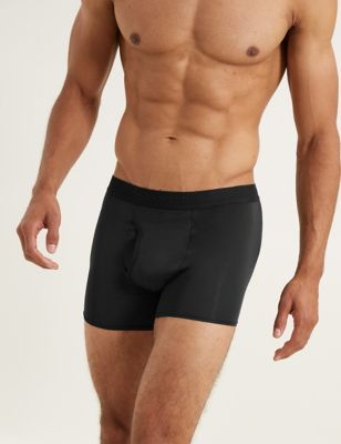 M/&s autographe Noir Gris microskin Boxer Trunks Pack De 3 Taille moyenne Bnwt
