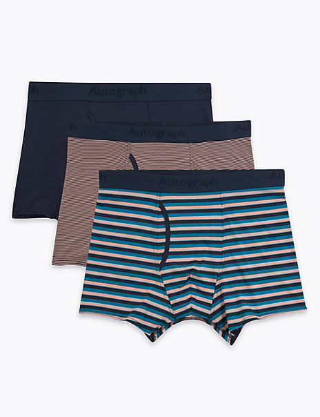 3 Pack Striped Trunks