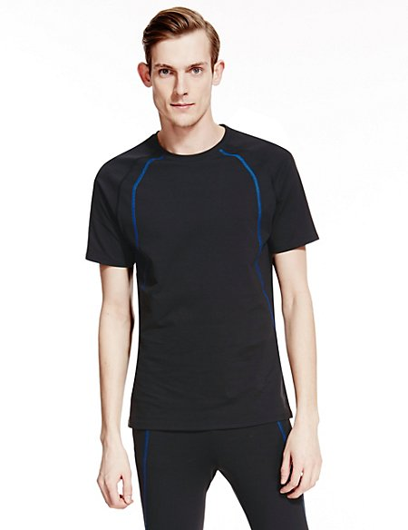 Active Contrast Stitched Top